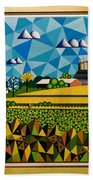 Farm On Hwy 28 Framed  Bath Towel