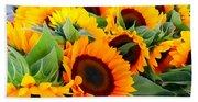 Farm Stand Sunflowers #8 Bath Towel