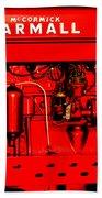 Farmall Engine Detail Bath Towel