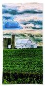 Farmland In  Hdr Bath Towel