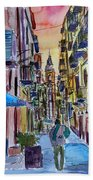Fascinating Palermo Sicily Italy Street Scene Bath Towel