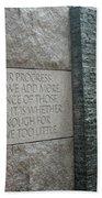 Fdr Memorial - Shared Sacrifice Bath Towel