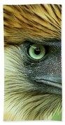 Fearless Philippine Eagle Bath Towel