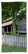 Fence And Cabin Bath Towel