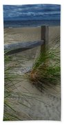 Fence And Dune Grass Bath Towel