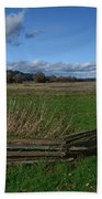 Fence And Open Field Bath Towel