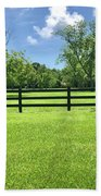 Fence Line  Bath Towel