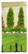 Fence Lined Garden Bath Towel