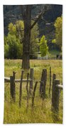 Fence Posts Bath Towel