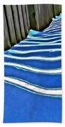 Fence Shadows Bath Towel
