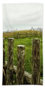 Fences In A Stormy Light Bath Towel