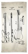 Fender Precision Bass Patent 1952 Bath Towel