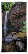 Ferns And Rocks By Abiqua Falls Hand Towel