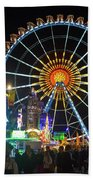 Ferris Wheel At Night Bath Towel