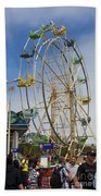 Ferris Wheel Santa Cruz Boardwalk Bath Towel