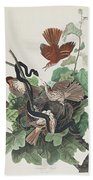 Ferruginous Thrush Bath Towel