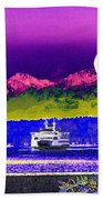 Ferry On Elliott Bay Bath Towel