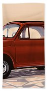 Fiat 500 1957 Painting Bath Towel