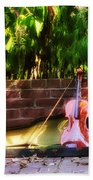 Fiddle On The Garden Wall Bath Towel