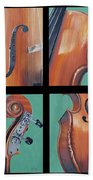 Fiddle Quartet Hand Towel