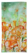 Field Of California Poppies Bath Towel