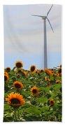 Where The Sunflowers Shine Bath Towel