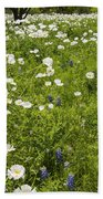 Field Of White Poppies Bath Towel