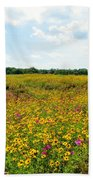 Field Of Wildflowers Bath Towel