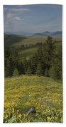 Field Of Yellow Flowers Bath Towel