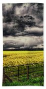 Field Of Yellow Flowers Bath Towel