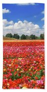 Fields Of Flowers At Nir Banim Bath Towel