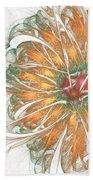 Fiery Chrysanthemum Bath Towel