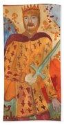 Fiery King Of Swords Bath Towel
