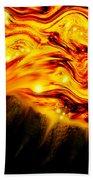Fiery Sun Erupting With M1.7 Class Solar Flare Bath Towel