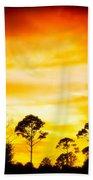 Fiery Sunset Bath Towel