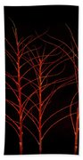 Fiery Trees Bath Towel