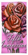 Fifth Anniversary Bath Towel