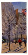 Fifth Avenue - Late Winter At The Met Bath Towel