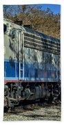 Fillmore And Western Railway Christmas Train 3 Bath Towel