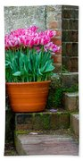 Filoli Tulips Bath Towel