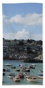 Fine Art - St Ives Harbour Bath Towel