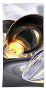 Fire And Ice Abstract Bath Towel