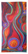 Fire Engine Red Explosion Bath Towel by Daina White