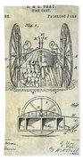 Fire Hose Cart Patent Bath Towel