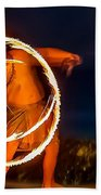 Fire Twirl Bath Towel by Ray Shiu