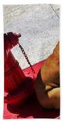Fireplug Bulldog Bath Towel
