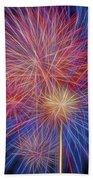 Fireworks Celebration Glow Square Bath Towel