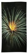 Fireworks Green Flower  Bath Towel