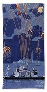 Fireworks In Venice Bath Towel