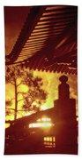 Fireworks, Japan Pavilion, Epcot, Walt Disney World Bath Towel